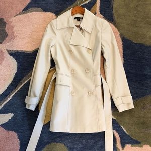 Willi Smith Trench Coat Cream Stone Khaki Jacket